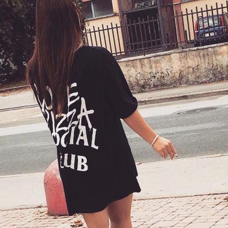 No Perfect Italy/Love Pizza Club  Big Tee Black