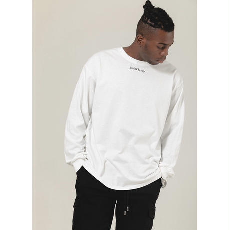 BLACK BLOND/INNOCENT Long Sleeve Tee WHITE
