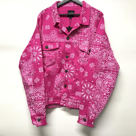 BOOHOO/BANDANA Denim Jacket PINK