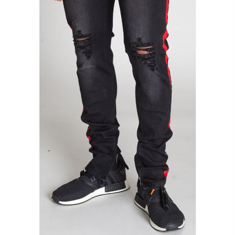 KDNK/Side line denim pants