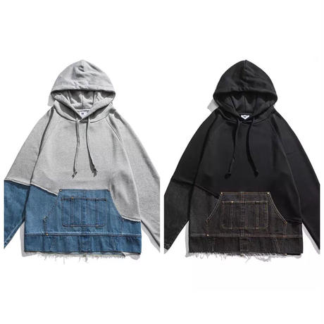 Mismatch NYC/Oversized denim custom  Hoodie