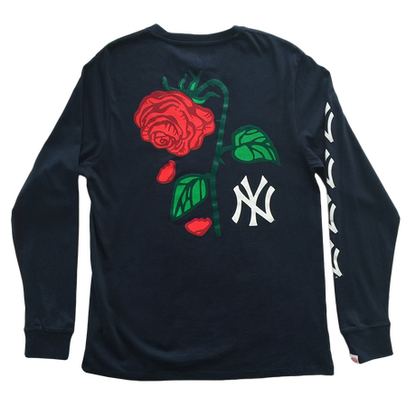 Petals and Peacocks × NY yankees/Long sleeve Tee