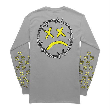 Lil Pump official merch/Unhappy Smile LongSleeve TEE