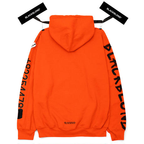 BLACK BLOND/CUSTOM Paint Hoodie  Orange