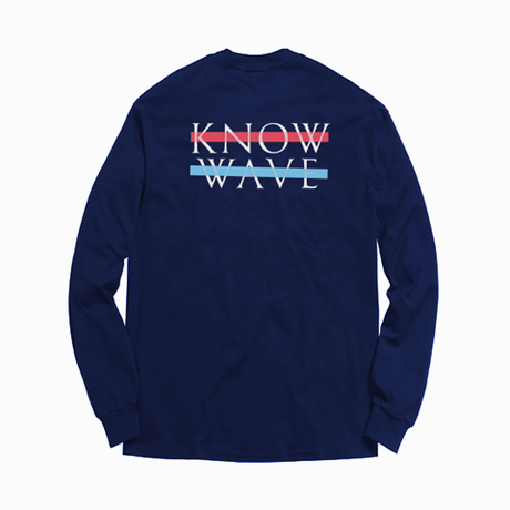 Know Wave/Long sleeve  ネイビー