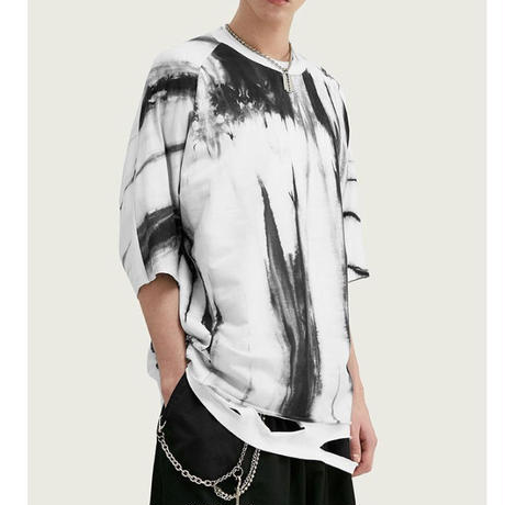 WOSS.official/marble Oversized Tshirts