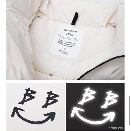 BLACK BLOND/BB SMILE Down Jacket  CREAM