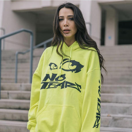 Petals and Peacocks/No Tears Hoodie Neon Yellow