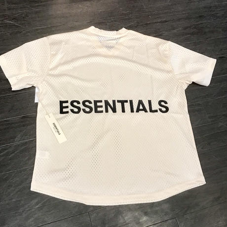 Fear Of God  FOG Essentials/Graphic Mesh Tee CREAM