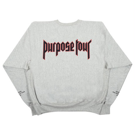 Purpose tour/Justin bieber official crew neck スエット
