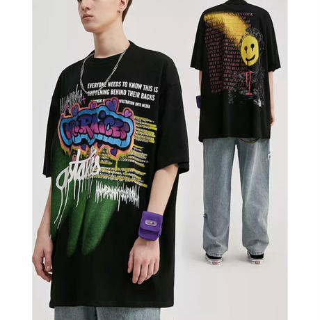 WOSS.official/SprayArt Oversized Tshirts