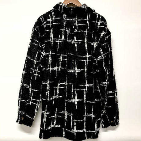 Mismatch NYC/Oversized tweed shirts ブラック