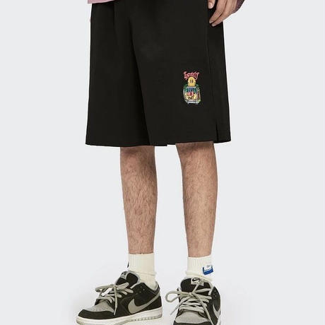 WOSS.official/smile emboidery shorts BLACK