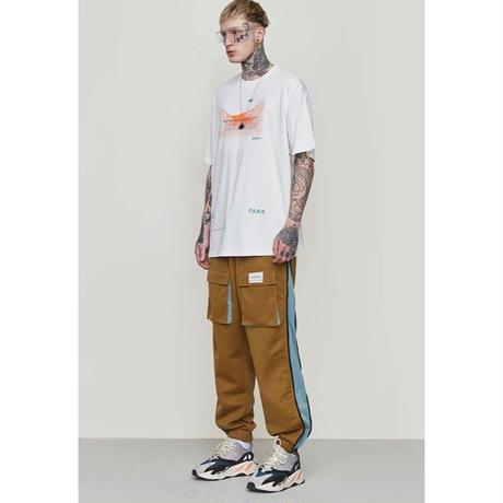 WOSS.official/side zip pants BROWN