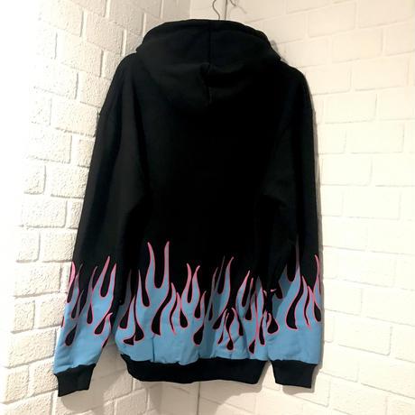 BOOHOO / Flame Hoodie BLACK/BLUE
