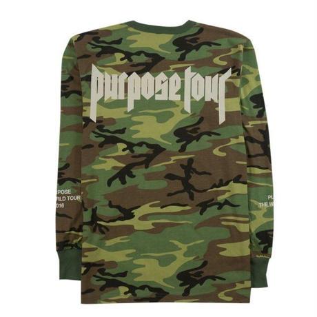 Purpose tour/Justin bieber official CAMO Long sleeve
