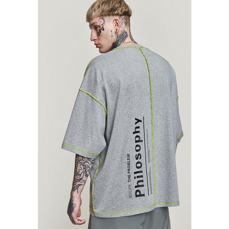 WOSS.official/Oversized  Tee GREY