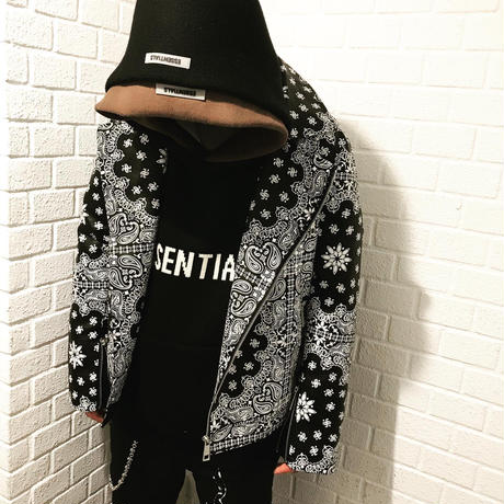 BOOHOO /BANDANA Biker Jacket