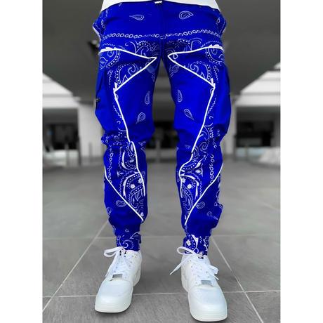 "GUAPI/ Paisley cargo pants V2 ""BLUE"""