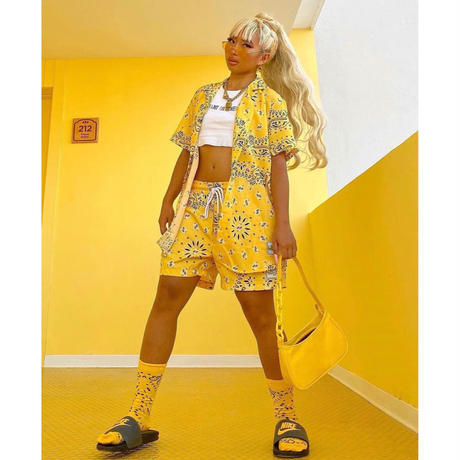 BOOHOO × Migos /BANDANA Set Up YELLOW