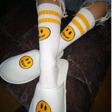 Drew House/Mascot Socks WHITE