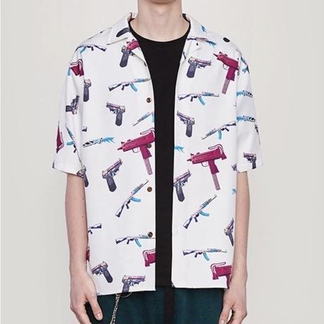 WOSS.official/GUN Aloha Shirts ホワイト