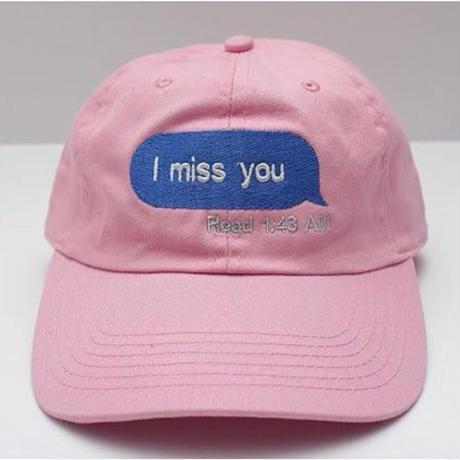 trius garments/miss you cap ピンク
