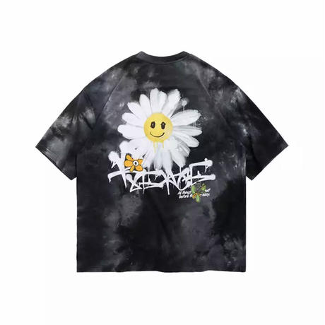 WOSS.official/TieDie  smile  Oversized  Tee BLACK