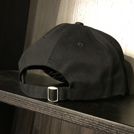 No Face No case/Custom BLACK Leather Brim Cap