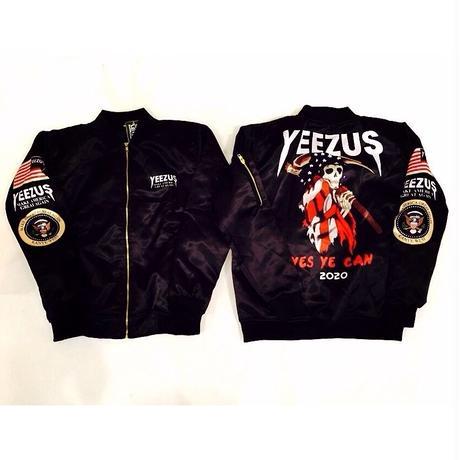 Nineteenth letter/Yeezus Campaign Bomber Jacket ブラック