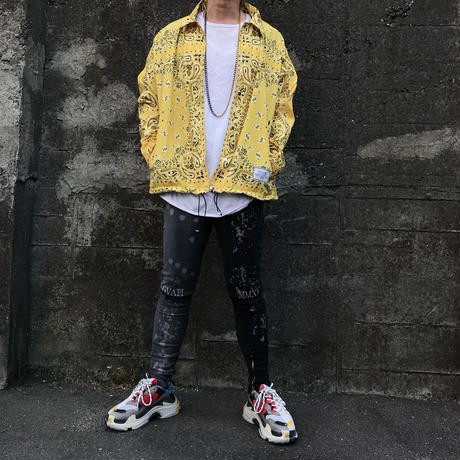 BOOHOO × Migos /BANDANA Coach Jacket YELLOW