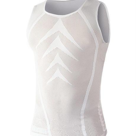 115CN Bi-Elastic ノースリーブシャツ ホワイト