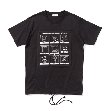 デタッチャブルマニュアルTシャツ