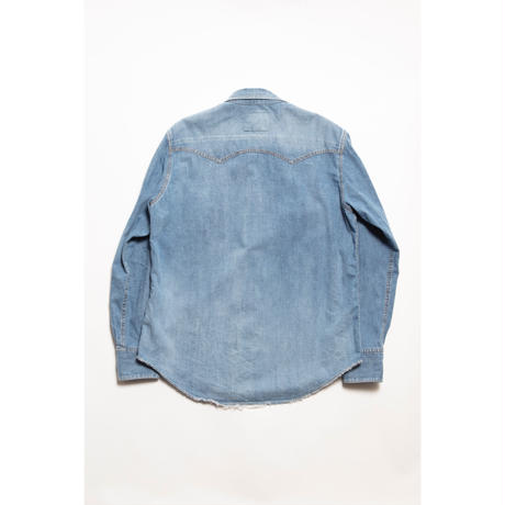 The Letters:WESTERN CUTTING SHIRT -USED WASHED DENIM-