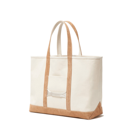 hobo : Cotton Canvas Tote Bag L with Cow Suede