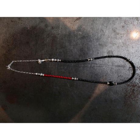 MEL.:2way Necklace (Antique Venetian glass &Obsidian)