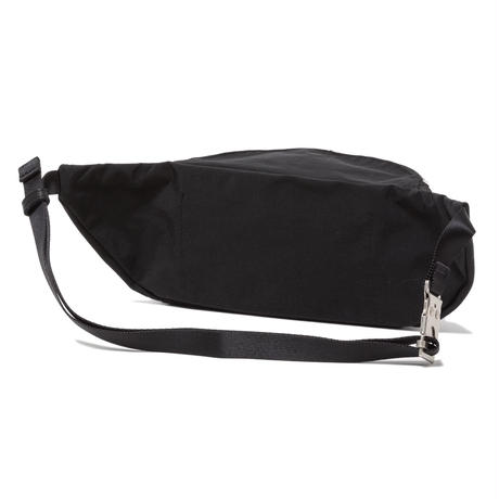 hobo : Nylon Oxford Shoulder Bag with Cow Leather