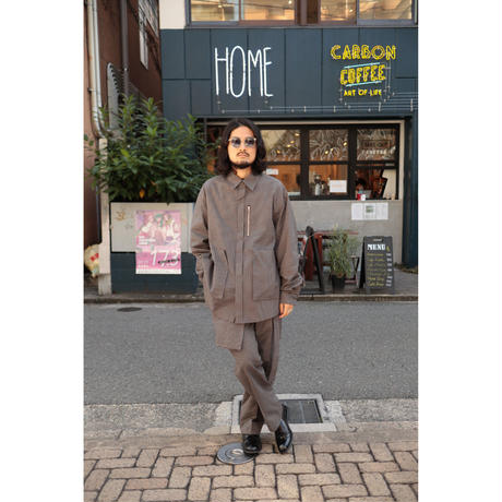 Name. : COTTON PLAID FLY FRONT SHIRT