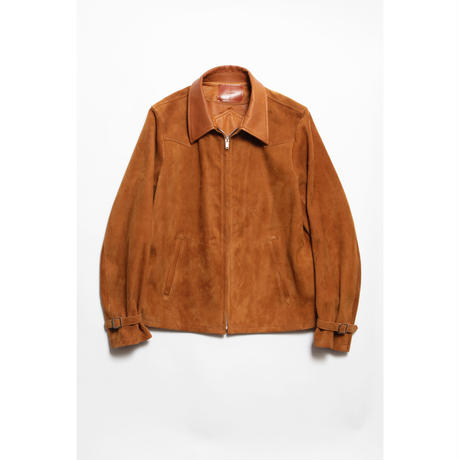 The Letters : WESTERN PINKING JACKET - GOAT SUEDE -