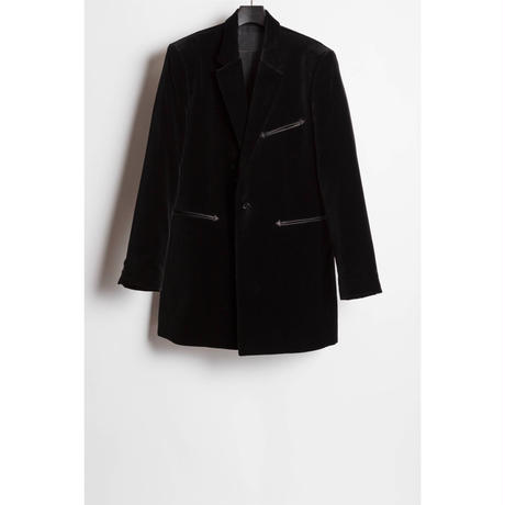 The Letters : SINGLE MIDDLE BREASTED JACKET - VELVET -