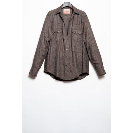 The Letters : WESTERN CUTTING SHIRT - GLEN CHECK RAYON -