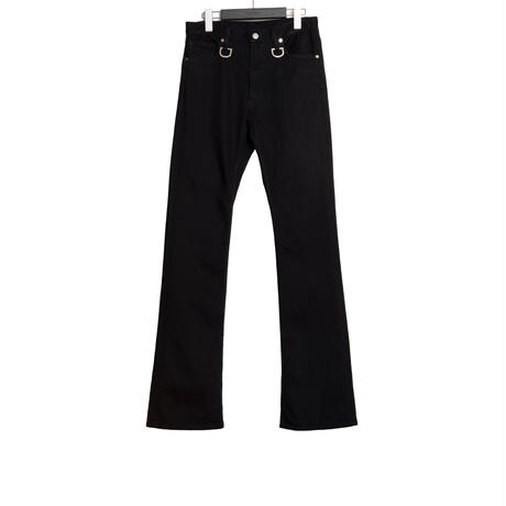 The Letters : 5POCKET D RING BOOTS CUT PANTS -  WASHED DENIM -