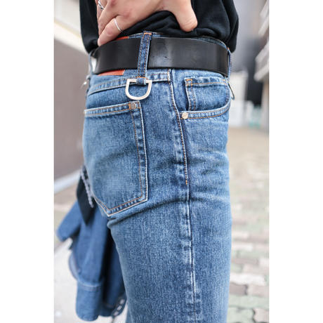 The Letters : 5POCKET D RING BOOTS CUT PANTS - USED WASHED DENIM -