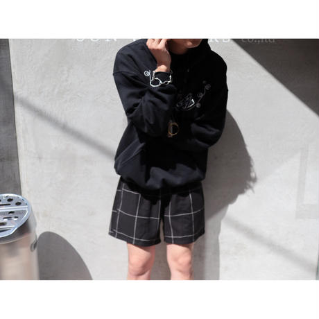The Letters : EASY SHORT PANTS - WINDOW PEN CHECK FLANNEL -