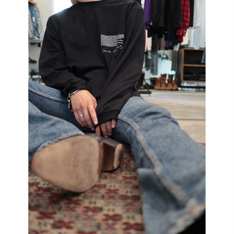 JOHN MASON SMITH: YELLOW SMOKE LONG SLEEVE T-SHIRT