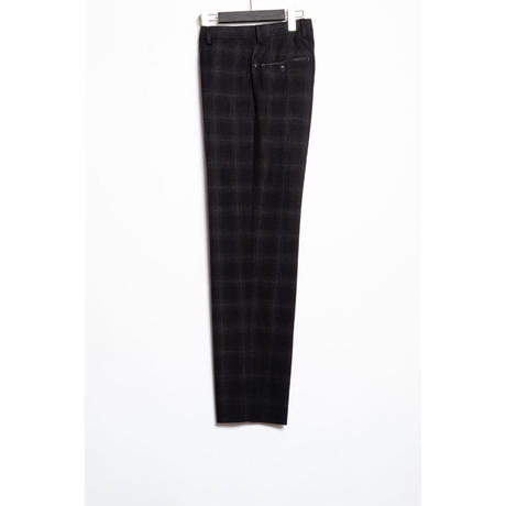 The Letters : CLASSICAL REGULAR TROUSERS - OMBRE CHECK WOOL -