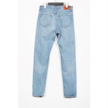The Letters : 5POCKET GRANGE SLIM PANTS - USED WASHED DENIM -