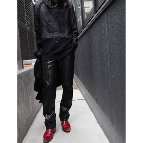 JUHA:SYNTHETIC LEATHER PANTS ( STRAIGHT )