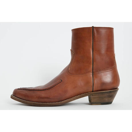 The Letters : Western Pointed Sidegore Shoes - Cow Hide -