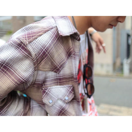 The Letters : WESTERN CUTTING SHIRT - OMBRE CHECK SOFT HEAVY FLANNEL -